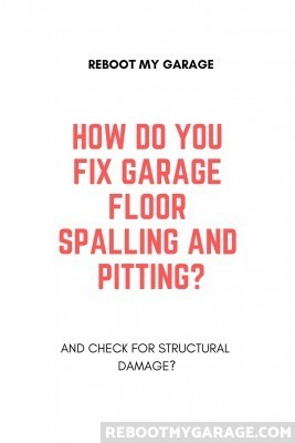 Fix garage floor spalling and pitting