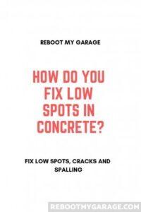 Fix concrete low spots