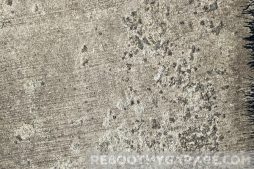 Concrete pitting