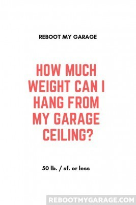 How much weight can I hang from my garage ceiling