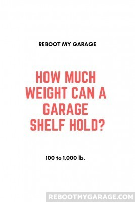How much weight can a garage shelf hold