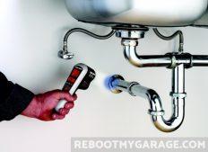 Black & Decker TLD100 Thermal Leak Detector blue means colder than baseline at pipe