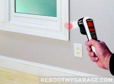 Black & Decker TLD100 Thermal Leak Detector red means warmer than baseline at window frame