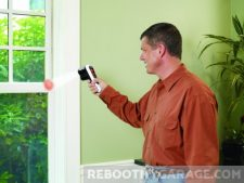 Black & Decker TLD100 Thermal Leak Detector red means warmer than baseline at the window pane