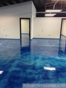 Epoxy garage floor looks nice, but get a professional for these results.