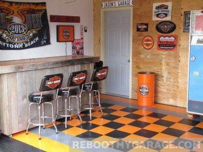 Orange, black, and root beer