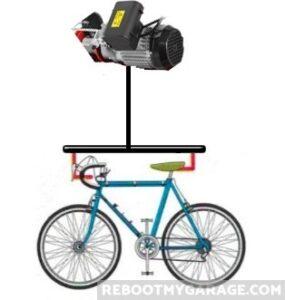 Don't lift the bike. Lift the bar.