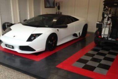 Beautiful poly tile garage
