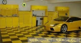Poly tiles and yellow race car