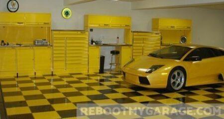 Poly tiles and yellow race car