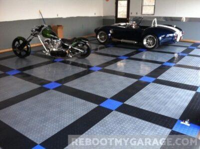 Speedway garage floor tile
