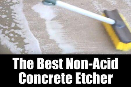 The best non-acid concrete garage floor etcher
