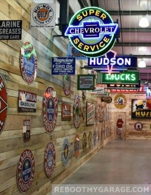 Neon and metal sign collection