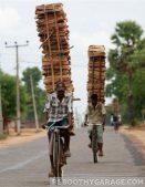 Lumber storage on bikes
