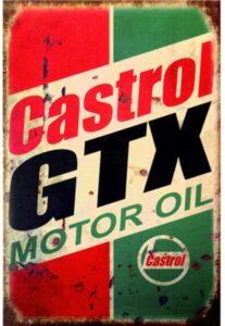 Castrol GTX Motor Oil sign