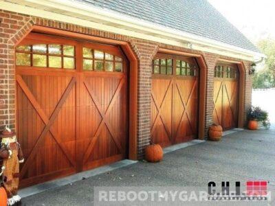 C.H.I. mahogany garage doors