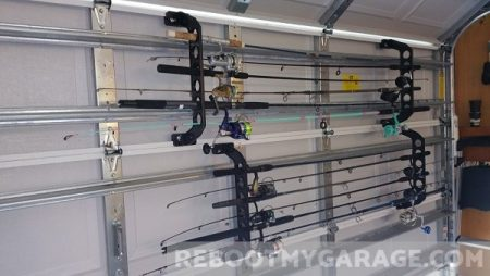 Fishing rods in the Cobra rack