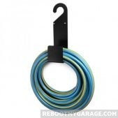 Couoff holds 50 ft of hose or wire