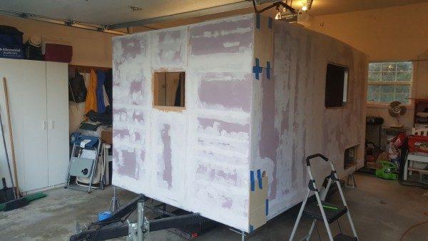 Foam trailer exterior