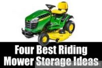 Four best riding mower storage ideas