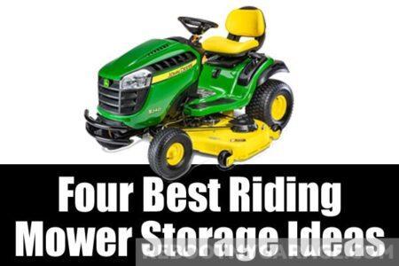 Four best riding mower storage ideas