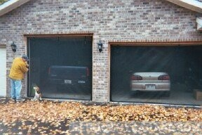 Garage Door Screens zipped