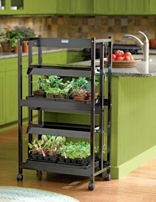 Gardeners Supply 2 Tier Grow Shelf