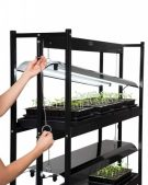 Gardners Supply 3 Tier Grow Shelf lighting adjustment