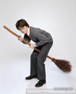 Awkward Harry Potter Broom