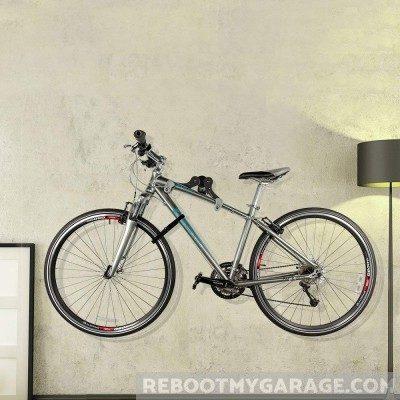 A bike on the Ibera Adjustable Bike Rack