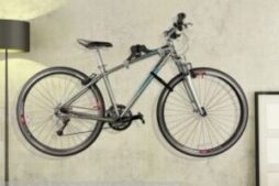 Horizontal bike storage wall mount