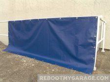 Heavy vinyl blue tarp