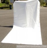 View white tarp for tractor