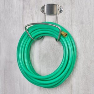 Garden hose on a hook