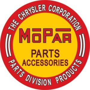 MOPAR Parts Accessories, Chryser Corporation sign
