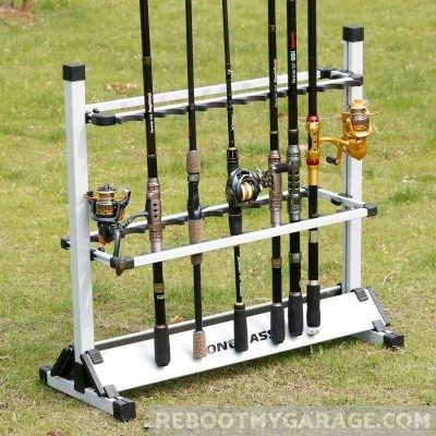 One Bass Fishing Rod Rack can be used outdoors