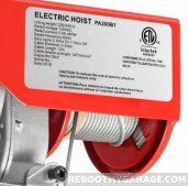 Partsam 440 lb. winch label