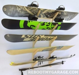 Snowboards on the Pro Board Rack