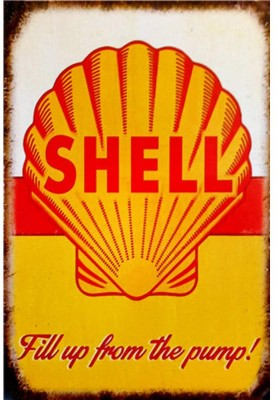 Shell Fill up from the pump sign