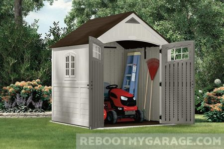Suncast Riding Lawnmower Shed