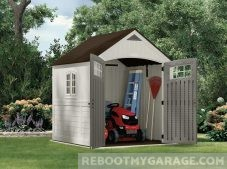 Suncast Cascade Riding Lawn Mower Shed