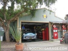 Gas station and 50's classic garage
