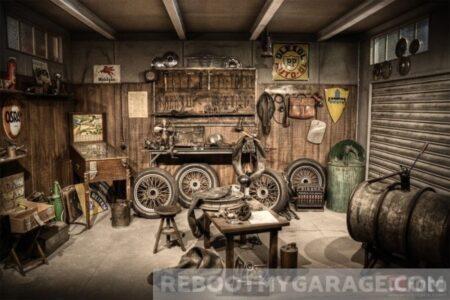 Repair shop signs car garage