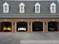 Mutli-car brick garage