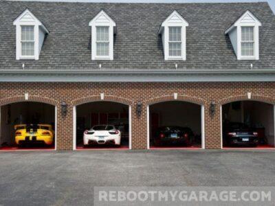 Mutli-car brick garage