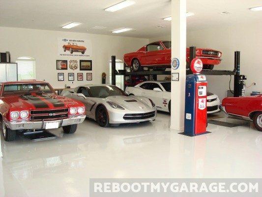 Sports car garage