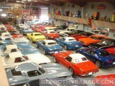 Classic Ferrari garage