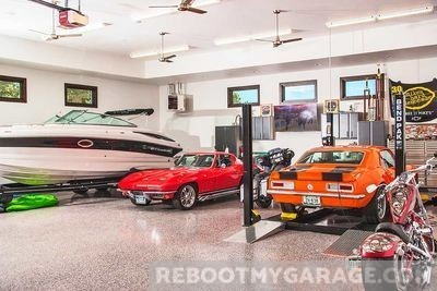 Muscle and sports car garage