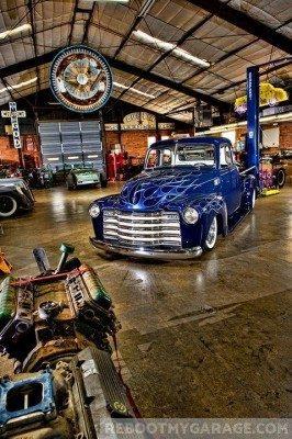 Classic car 1940's garage