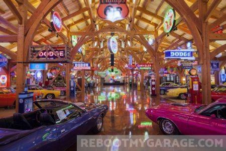 Lights and cars garage